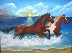 """Created in 2006. """"Wild  horses"""" expresses the necessity of Freedom, to run by life without saddles or harness', without wired fences or prejudices that stop us, to be owners of our own destiny. To ride on a wild horse is the pressed dreams and the reward to live in freedom."""