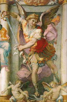 hadrian6:    St.Michael Archangel. 1547. Pellegrino Tibaldi.  http://hadrian6.tumblr.com
