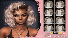 Hair Magnolia – NEW bestsecondlife, New SL, Secondlife, secondlifefashion, secondlifestyle, Sintiklia sl, SL, slblogging, slfashion Facebook Giveaway, Wavy Bobs, Magnolia, Bangs, Hair, Fringes, Magnolias, Bangs Hairstyle, Pony