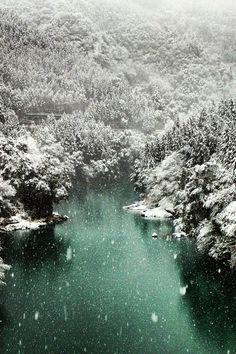 Okutama Snow Scene, Nishitama District, Tokyo