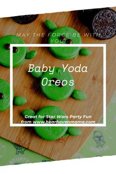 Baby Yoda Oreos, Perfect for May the Fourth or a Star Wars Party! Obscure Holidays, Silly Holidays, Star Wars Birthday, Boy Birthday, Birthday Ideas, Birthday Decorations, First Birthday Parties, First Birthdays, Yoda Cake
