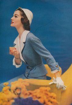 1950s suit photographed by Karen Radkai