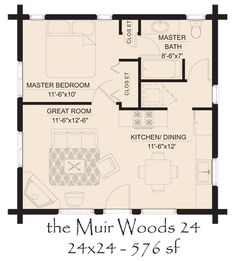 2 Bedroom House Plans Great Cabin Floor Plans Plans For throughout 2 Bedroom House Floor Plans The Plan, How To Plan, Log Home Floor Plans, Small House Plans, Guest House Plans, Town Country Haus, 1 Bedroom House, Bedroom Loft, Bedroom Wall