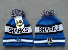 NRL Knit Hats 026 SHARKS Beanies Hats 8109! Only $7.90USD