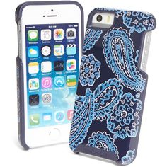 Vera Bradley Hybrid Hardshell Phone Case for iPhone 5 in Blue Bandana ($38) ❤ liked on Polyvore featuring accessories, tech accessories, back to school, blue bandana, vera bradley, blue handkerchief and colorful bandanas