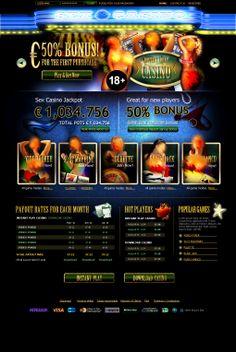 Casino Erótico. Diseño y maquetación.