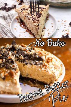 Apple Desserts, No Bake Desserts, Just Desserts, Dessert Recipes, Peanut Butter Mousse, Creamy Peanut Butter, Angel Food Cake Trifle, Chocolate Pies, Chocolate Ganache
