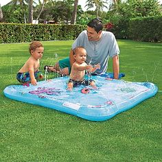 Inflatable Wading Pool with Fountain | OneStepAhead.com