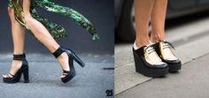 Creepers con detalles refinados y sandalias hechas de mezcla de líneas delicadas y pesadas plataformas. #StreetStyle #Summer