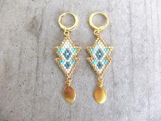 Boucles d'oreilles ★ Massaï ★ dorées à l'or fin 24k : Boucles d'oreille par my-french-touch