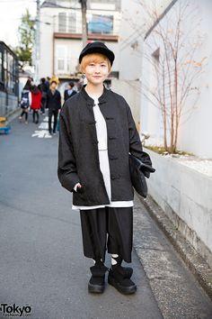 Chinese inspired ... Shimeji | 22 February 2016 | #Fashion #Harajuku (原宿) #Shibuya (渋谷) #Tokyo (東京) #Japan (日本)