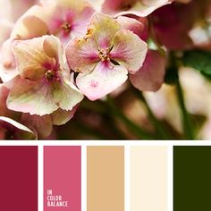 бежевый, бледно-розовый, бордовый, винтажные цвета, оливковый, оттенки бежевого, оттенки болотно-зеленого, оттенки зеленого, оттенки розового, оттенки светло-розового, подбор пастельных тонов, розовый, салатовый, светло-оливковый, темно-болотный цвет,