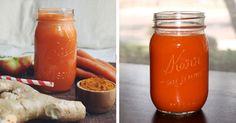Batido para dar energía de zanahoria y jengibre con canela y nuez
