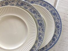 Vintage blue and white mismatched china salad by Mismatched China, Johnson Bros, Dessert Salads, Blue And White China, Salad Plates, Tableware, How To Make, Vintage, Dinnerware