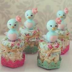 Inspire your Party ® Baby Birthday, Birthday Parties, Clay Crafts, Diy And Crafts, Idee Diy, Ideas Para Fiestas, Mason Jar Crafts, Cold Porcelain, Baby Shower Parties