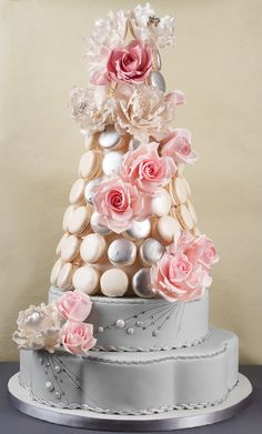 Macaroon tower. #AlternativeCakes #GrahamBeckBubbly #MyRoyalWedding