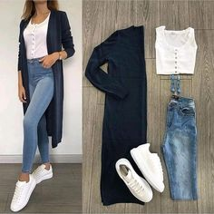 New Fashion Casual Hijabi Jeans 20 Ideas – Outfits – – Hijab Fashion 2020 Look Fashion, Hijab Fashion, New Fashion, Trendy Fashion, Fashion Outfits, Jeans Fashion, Fashion Mode, Trendy Style, Fasion