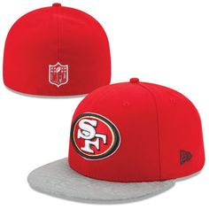 Men's San Francisco 49ers New Era Scarlet NFL Draft 59FIFTY Reflective Fitted Hat