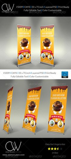 Cake Signage Roll-Up Banner | repinned by www.drukwerkdeal.nl