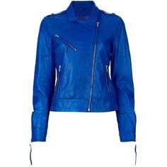 JUST'EVE Leather biker jacket (£382) found on Polyvore