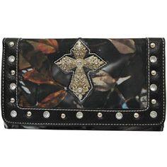 BNB Natural Camo® Western Rhinestone Accent Cross Fashion Wallet (Black) Zebragogo http://www.amazon.com/dp/B00FZY65L4/ref=cm_sw_r_pi_dp_-z0Hvb08TA1GH