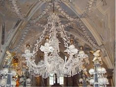 Czech Cemetery Has a Chandelier Made of Human Bones - Architecture of the Dead - Curbed National