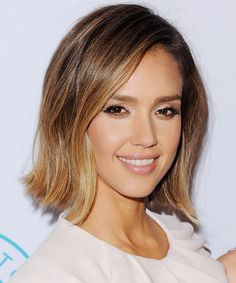 """""""subtle, sun-kissed highlights that make it look like you just got back from an amazing hot weather vacation,"""" Ramirez says. We like the face-framing highlights that break up Jessica Alba's subtler version of ombré."""