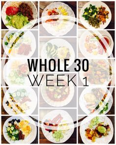 Whole 30 Week 1 Meals, Tips and Favorite Products Whole 30 Meal Plan - A week of ideas for Whole 30 Meals for breakfast, lunch, and dinner! Lots of product ideas and tips. Whole 30 Meal Plan, Whole 30 Diet, Paleo Whole 30, Whole 30 Meals, Whole 30 Lunch, Whole Food Diet, Paleo Recipes, Whole Food Recipes, Paleo Meals
