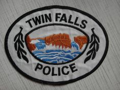 Patch police Twin Falls Police Department USA Idaho New Rarity  | eBay