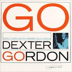 """Dexter Gordon: Go   Label: Blue Note 4112   12"""" LP 1962   Design: Reid Miles   Photo: Francis Wolff"""
