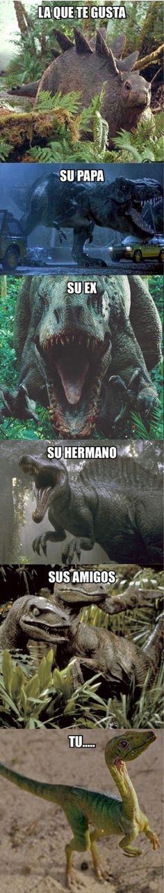 La situación amorosa en forma de dinosaurios        Gracias a http://www.cuantocabron.com/   Si quieres leer la noticia completa visita: http://www.estoy-aburrido.com/la-situacion-amorosa-en-forma-de-dinosaurios/