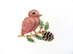 Vintage Christmas Brooch  1960's Christmas by BroochesTheSubject, $26.50