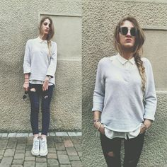 Greta I. - H&M Light Grey Sweater - R u mine - Arctic Monkeys