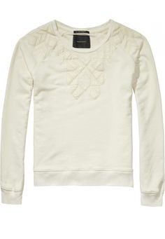 Patched And Quilted Sweat In Various Dessins