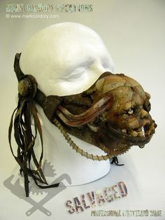 Post Apocalyptic Gas Mask for LARP - another Creepy Doll mask from the SALVAGED range by Mark Cordory Creations. Enquiries always welcome @ www.markcordory.com