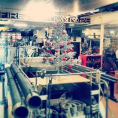 Cute little tree at Denver Firefighters Museum (via denverfirefightersmuseum on Instagram) #MuseXmas