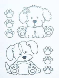 Colouring Pages, Coloring Pages For Kids, Coloring Sheets, Coloring Books, Tole Painting, Painting & Drawing, Dog Crafts, Digi Stamps, Painting Patterns