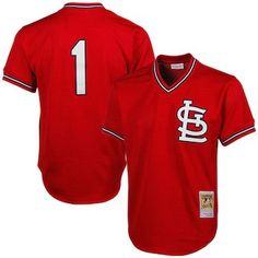 f2c962365 Mitchell   Ness Ozzie Smith St. Louis Cardinals 1985 Authentic Throwback  Mesh Batting Practice Jersey