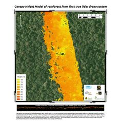 LiDAR drone system maps height of rainforest for the first time.