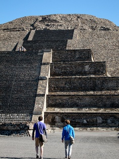 Teotihuacan  Near Mexico City - This is a great place to take in some ruins during your next trip or vacation to Mexico. These historic landmarks are one of a kind and should not be missed if you are traveling in the area they are in in Mexico. (https://www.facebook.com/TravelingWarrior) #Mexico #ruins