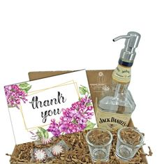 """Search: 10 results found for """"gift box"""" – Page 2 – Looking Sharp Cactus LLC Jack Daniels Decor, Jack Daniels Gifts, Liquor Bottle Crafts, Liquor Bottles, Glass Dispenser, Soap Dispensers, Whiskey Gifts, Wine Gifts, Thank You Gifts"""