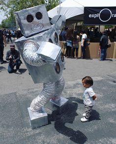 Mr. @robot_dance_party makes a friend.