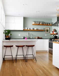 A Friendly Home in the Heart of San Francisco (With a Gorgeous Green Kitchen)