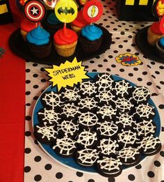 Superhero party food...