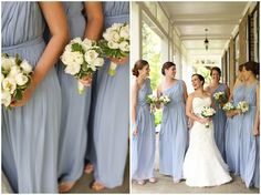 Pale Blue Bridesmaids Dresses www.annakphotography.com
