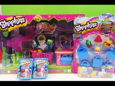 SHOPKINS Mini Supermarket 5 Pack and 2 Shopkins Shopping Baskets Lots of #Shopkins