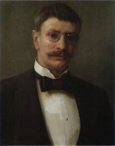 Self-portrait, 1904 - Johan Krouthén (1858 – 1932) was a Swedish artist. He broke away from the traditions of the Swedish Academy, turning to Realism & Idealism. Immediately after his studies, he spent a few months in Paris & in Denmark where he associated with the Skagen Painters. Back in Sweden he painted pictures of gardens & portraits of local people.
