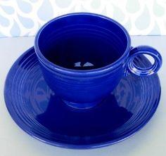 1936 Vintage Cobalt Blue Fiesta ware