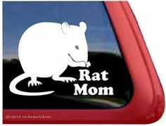 Rat Mom High Quality Adhesive Vinyl by NickerStickers Custom Decal Stickers, Bumper Stickers, Vinyl Decals, Fancy Rat, Night In The Wood, Cute Rats, Can Dogs Eat, Cat Sitting, Window Decals