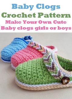 Learn how to make these cute baby clogs great for a boy or girl. crochet  patterns - Make some adorable baby shoes today! 5c77f529b
